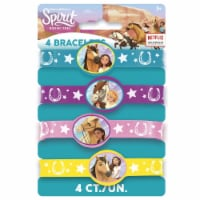 Spirit Riding Free Stretchy Rubber Bracelets [4 Per Package]