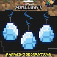 Minecraft Hanging Swirl Decorations [26 Inch - 3 Per Package]