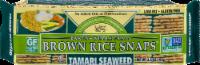 Edward & Sons Tamari Seaweed Brown Rice Snaps - 3.5 oz