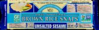 Edward & Sons Sesame Brown Rice Snaps - 3.5 oz