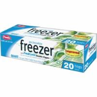 Presto 1 Qt. Reclosable Double Zipper Freezer Bag (20 Count) C003710S - Quart