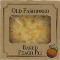 Table Talk Old Fashioned Baked Peach Pie