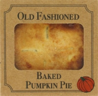 Table Talk Old Fashioned Baked Pumpkin Pie