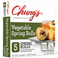 Chung's Gourmet Quality Vegetable Spring Rolls 5 Count