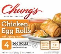 Chung's White Meat Chicken Egg Rolls 4 Count