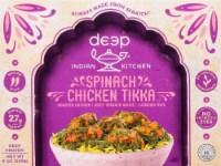 Deep Indian Kitchen Chicken Tandoori with Spinach & Rice Frozen Meal