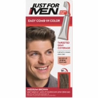 Just For Men AutoStop Comb-In A-35 Medium Brown No-Mix Hair Color