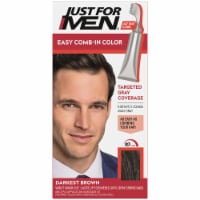 Just For Men AutoStop Comb-In A-50 Darkest Brown Hair Color