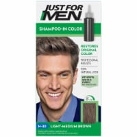 Just For Men Original Formula H30 Light Medium Brown Shampoo Hair Color