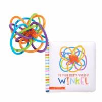 Manhattan Toy Winkel Rattle and Teether + The Make Believe World of Winkel Board Book - 1 Each
