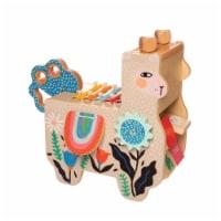 Manhattan Toy Musical Llama Wooden Toddler Instrument Maraca, Clacker, Washboard & Xylophone