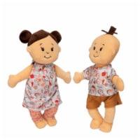"""Manhattan Toy Wee Baby Stella Peach 12"""" Soft Baby Twin Dolls - 1 Each"""