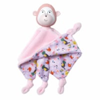 Manhattan Toy Fruity Paws Momo Monkey Baby Soothing Lovie with 100% Natural Rubber Head