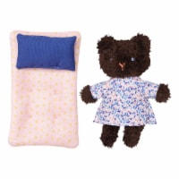 Manhattan Toy Little Nook Bluebell Bear Stuffed Animal with Removable Clothing - 1 Each