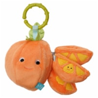 Manhattan Toy Mini-Apple Farm Orange Baby Travel Toy with Rattle, Squeaker, Crinkle Fabric - 1 Each