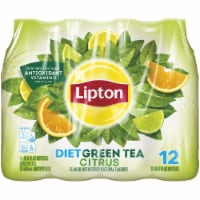 Lipton Diet Iced Green Tea with Citrus 12 Pack Bottles