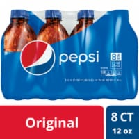 Pepsi Cola Soda 8 Pack Bottles