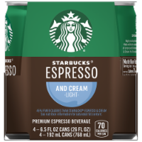 Starbucks Doubleshot Energy Drink Espresso & Cream Light Espresso Iced Coffee