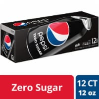 Pepsi Cola Zero Sugar Soda 12 Pack