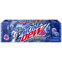 Mountain Dew Voltage Soda 12 Pack