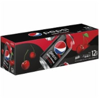 Pepsi Cola Zero Sugar Wild Cherry Soda 12 Pack