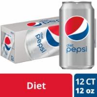 Diet Pepsi® Cola Soda - 12 cans / 12 fl oz