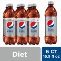 Diet Pepsi® Cola Soda - 6 bottles / 16.9 fl oz