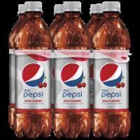 Diet Pepsi Cola Wild Cherry Soda 6 Pack Bottles