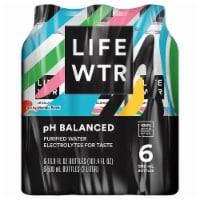 LIFEWTR Purified Water - 6 bottles / 16.9 fl oz