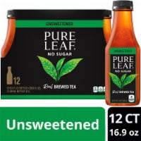 Pure Leaf Unsweetened Black Tea - 12 bottles / 16.9 fl oz