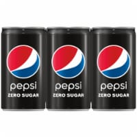 Pepsi Cola Zero Sugar Soda Mini Cans