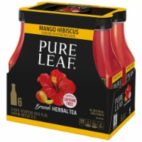 Pure Leaf Herbals Mango Hibiscus Brewed Iced Tea 6 Count Bottles