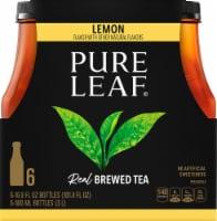 Pure Leaf Sweetened with Lemon Brewed Iced Tea - 6 bottles / 16.9 fl oz