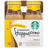 Starbucks Frappuccino Mocha Almond Milk Iced Chilled Coffee Drink