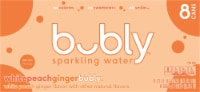 bubly White Peach Ginger Sparkling Water