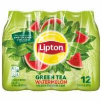 Lipton Watermelon Iced Green Tea 12 Count Bottles