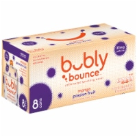 bubly Bounce Mango Passion Fruit Caffeinated Sparkling Water - 8 cans / 12 fl oz