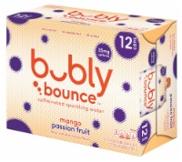 bubly Bounce Mango Passion Fruit Caffeinated Sparkling Water - 12 cans / 12 fl oz