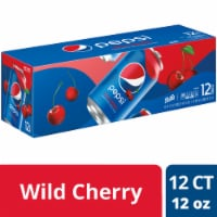 Pepsi Cola Wild Cherry Soda 12 Pack
