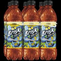 Brisk® Lemon Iced Tea - 6 bottles / 16.9 fl oz
