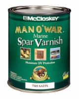 McCloskey  Man O' War  Satin  Clear  Marine Spar Varnish  1 qt. - Case Of: 4; - Case of: 4