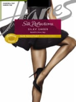 Hanes Women's Silk Reflections® Control-Top Silky Sheer Pantyhose - Barely Black