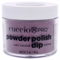 Cuccio Pro Powder Polish Nail Colour Dip System  Plum with Black Undertones Nail Powder 1.6 o - 1.6 oz