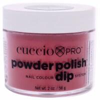 Cuccio Pro Powder Polish Nail Colour Dip System  Strawberry Red Nail Powder 1.6 oz - 1.6 oz