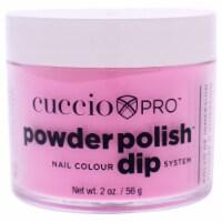 Cuccio Pro Powder Polish Nail Colour Dip System  Neon Pink Nail Powder 1.6 oz - 1.6 oz