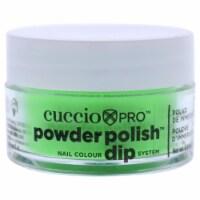 Cuccio Pro Powder Polish Nail Colour Dip System  Neon Green Nail Powder 0.5 oz - 0.5 oz