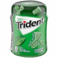 Trident Unwrapped Spearmint Sugar Free Gum 50 Count