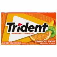 Trident Tropical Twist Sugar Free Gum - 14 ct