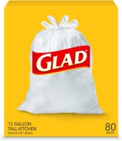 Glad Tall Quick-Tie Kitchen Trash Bags 80 Count