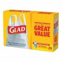 Glad Trash Bag,13 gal.,White,PK26  70036 - 1